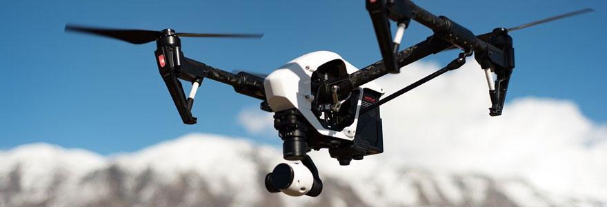 drone volant lors d'un team building
